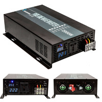 LED Display Solar Power Inverter 2000Watt 12 24 48VDC To AC Converter True Pure Sine Wave