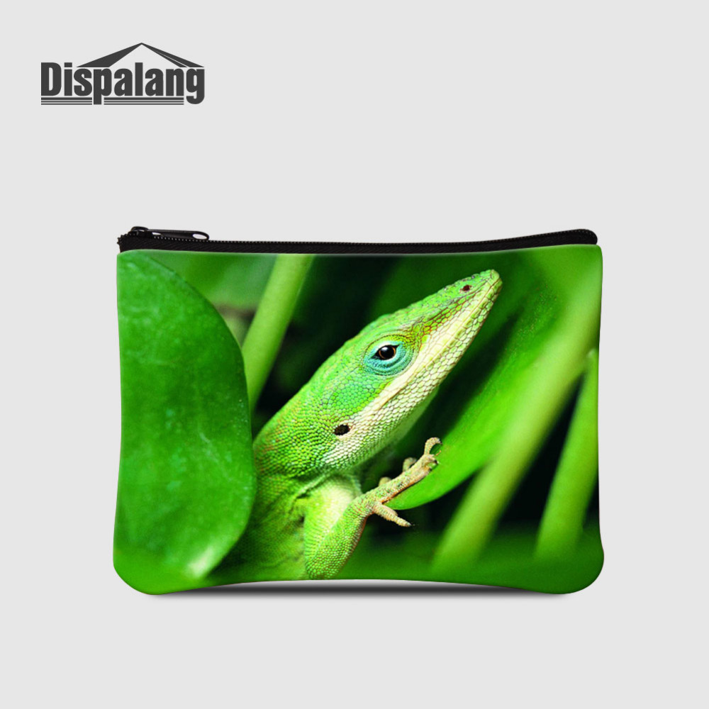 Dispalang Lizard Print Men Wallet Kids Coin Purse Card Holder Zipper Small Clutch Bags C ...