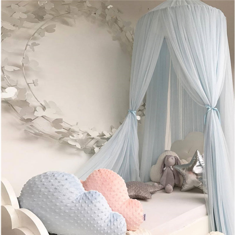 New Kid Baby Bed Canopy Cotton Mosquito Net Crib Netting Baby Curtain Bedding Round Dome Tent Mother & Kids