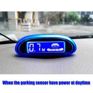 Image 2 - New Blue Screen Parking Sensor Car Parking Assistance 4 Sensors And led display Reverse Backup Radar Monitor Detector System