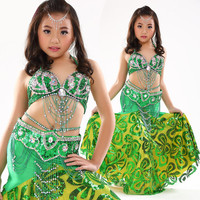 New Style Belly Dance Costume Clothes Wear Kids Dance Child Bellydance Children Indian Dance 2pcs 3pcs