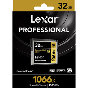 Image 5 - Lexar Professional 1066x CompactFlas CF Card 32gb Flash Memory Cards For Camera Hd Camcorder 1080p 3d 4k Dv Video free shiping
