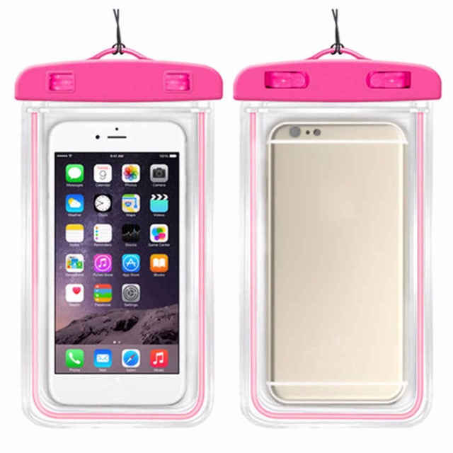 finest selection 96fa5 bec0f US $2.2 18% OFF Luminous waterproof phone Pouch with Adjustable Waist Strap  for 360 N6 Lite Pro for Micromax Bharat 5 Pro V407 Q402+ Q437 Q440-in ...