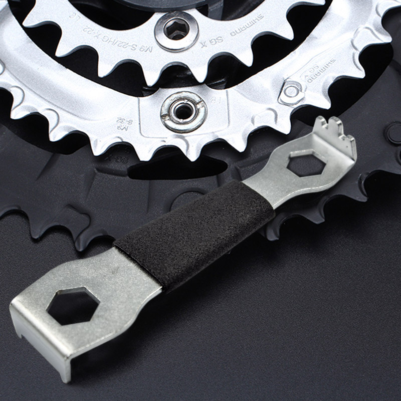 MTB Road Bike Bicycle Sprocket Nut Chain Wrench Crankcase Disassembly Spanner