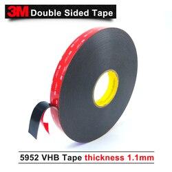 3M VHB 5952 high sticky acrylic adhesive foam tape/Black color die cut VHB 5952 tape12mm*33M/5rolls/lot free shipping