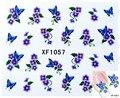 XF1057 Новый Переноса Воды Бабочка Этикета Женщины Ногтей Наклейки Ногтей Акриловый Маникюр Советы DIY