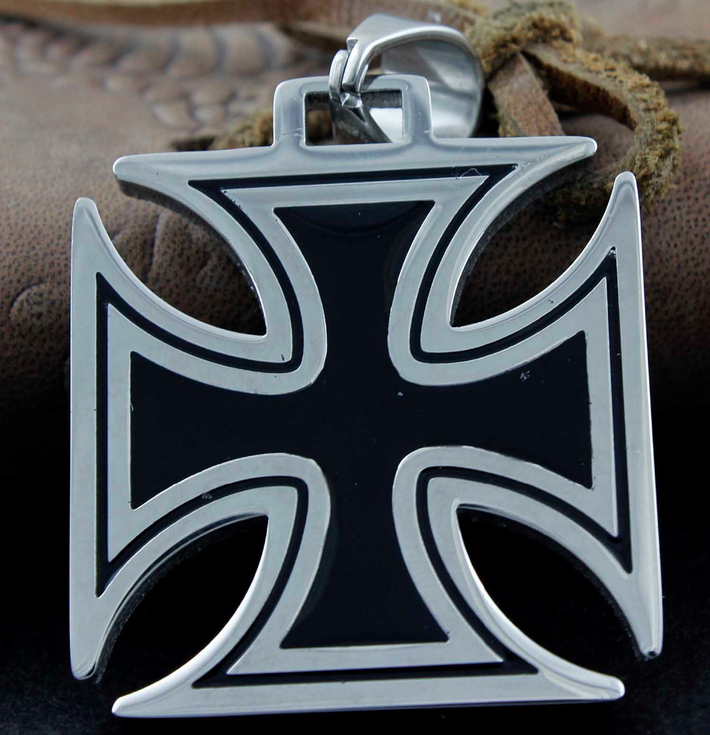 cross pendant maltese necklace firefighter mini