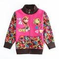 Anna elsa Casacos para as meninas de inverno casacos com capuz casacos Windbreaker Roupa das crianças Flor casacos Crianças roupas de bebê