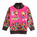 anna elsa Jackets for girls winter outerwear sweatshirts kids Flower jackets baby clothing Children's coats Windbreaker Clothes