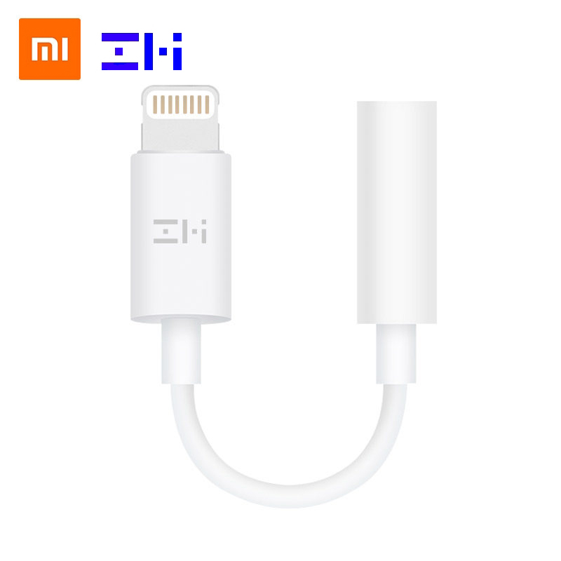 Original ZMI MFi certified for apple lightning to 3.5mm headphone jack adapter for iPhone xs max xr x 8 7 plus aux Audio adapter