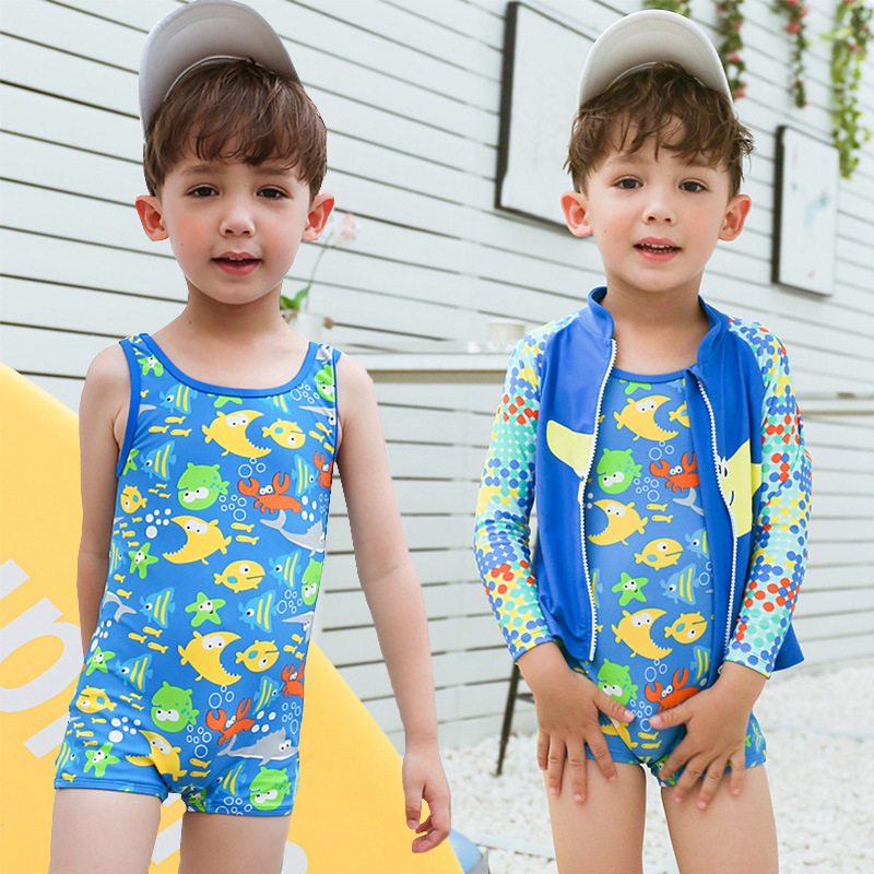 New Model Boys 3 Pieces Swim Set One Piece Swimsuit 1-14 Boy Swim Outwear  Cap Suit Swimwear Children Swimming Wear Bathing Suits - buy at the price  of $19.14 in aliexpress.com   imall.com