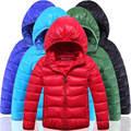 100% Pearl Cotton Korean New Style Toddler Boys Fashion Ultra Light Keep Warm Candy Colors Offer  Boys Thicken Jacket