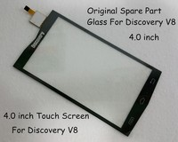 100 Original Spare Part 4 0 Inch Glass Touch Screen For Discovery V8 Smartphone