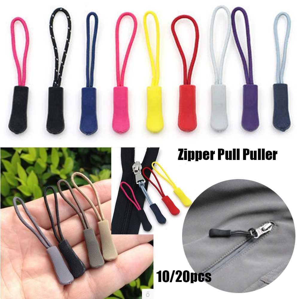 10pcs กระเป๋าเดินทางเต็นท์กระเป๋าเป้สะพายหลังซิปดึง PULLER End Fit เชือก: Fixer สายซิป TAB เปลี่ยนคลิป broken BUCKLE