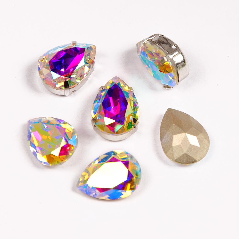 YANRUO Fancy Rhinestones Glass Drop Pear Diamond Stones for Crafts Sewing Ornaments Bright for Accessories in Rhinestones from Home Garden