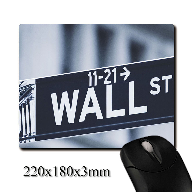World Financial Vane Wall Street signs printed Heavy weaving anti-slip rubber pad office mouse pad Coaster Party favor gifts