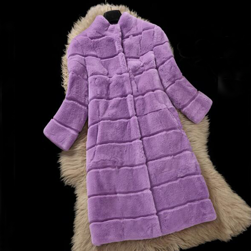 New Top Selling Real Price Natural Fur Coat Women Rabbit Fur Jacket With Sheared Stand Collar Wsr466