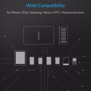 Image 5 - ORICO 5 Port USB Charger Desktop QC2.0 Quick Charger 5V2.4A 9V2A 12V1.5A for iPhone Samsung Huawei Tablet