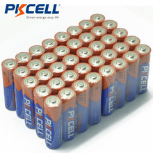 40 x PKCELL AA 1.5V LR6 MN1500 alkali kuru yüksek kapasiteli pil için kamera el feneri