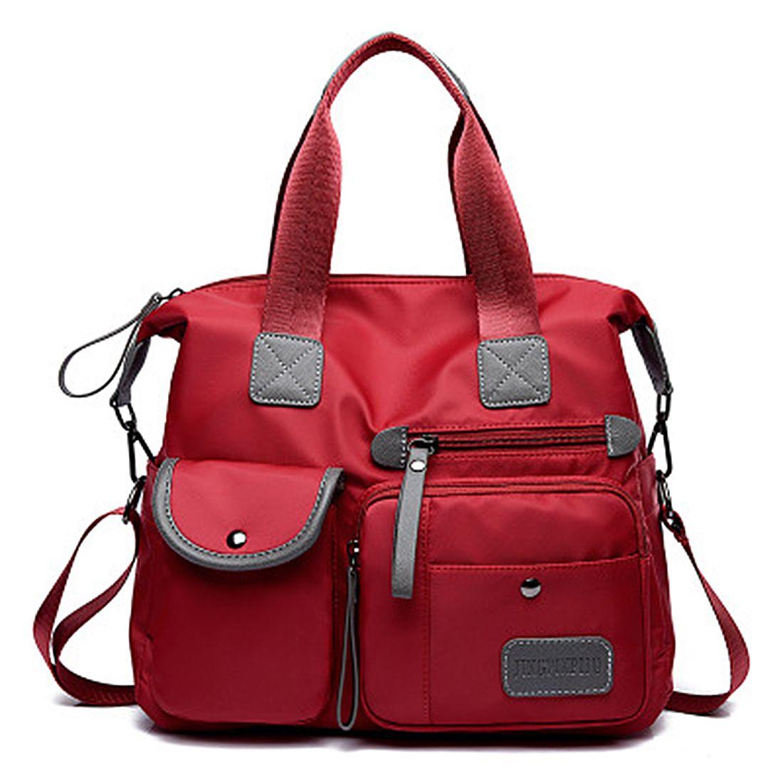 DCOS New Ladies Fashion Waterproof Oxford Tote Bag Casual Nylon Shoulder Bag Mummy Bag Large Capacity Canvas Bag