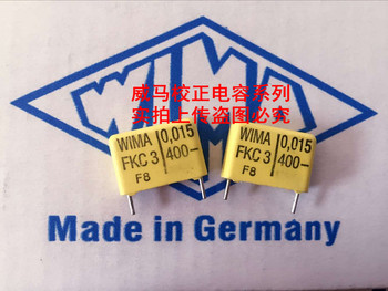 цена на 2019 hot sale 10pcs/20pcs WIMA capacitor FKC3 400V 0.015UF 400V 153 15nf P: 15mm Audio capacitor free shipping