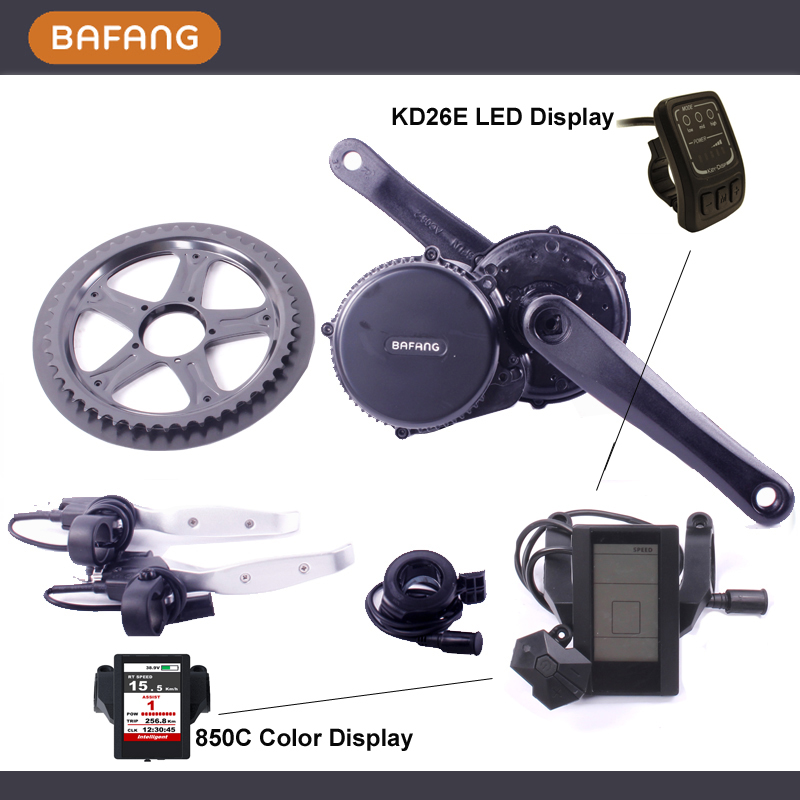 FREE SHIPPING 2017 Bafang/8fun BBS0136V250W mid crank motor/bottom bracket  with color display for electric bikes convertion