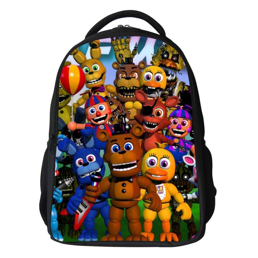 16-inch Cartoon five nights at freddys School Bags Backpack Children Schoolbags For Teenagers Boys&Girls School Book Bag Kids anime noragami aragoto yato backpack for teenage girls boys cartoon yukine children school bags casul book bag travel backpacks