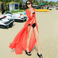 Bohemian Chiffon Maxi Dress For Women O Neck Sleeveless Solid Color DressesPlus Size Women Clothing Summer JX047