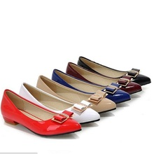 Ladies Bow Rhinestone Pointy Toe Big size Shoes 12 Square Heel Low Heel Women's Single Shoe White Black High Heel Pumps Women