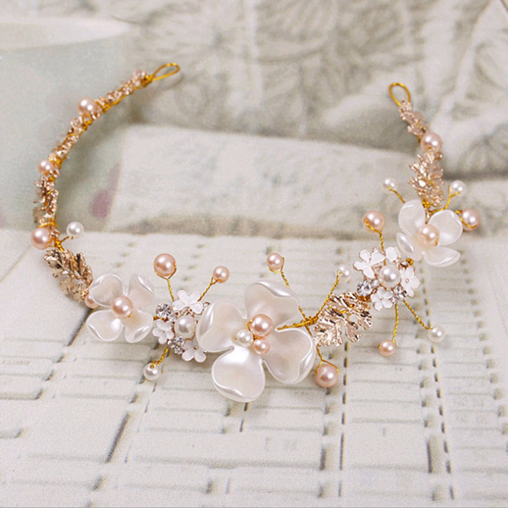JAVRICK Crystal Bridal Headband Wedding Rhinestone Headbands Hair Accessories Bridal tiaras Bride Ribbon Headbands in Hair Jewelry from Jewelry Accessories