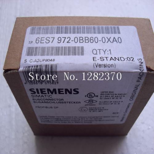 [SA] German original authentic special sales - connector 6ES7 972-0BB60-0XA0 Spot original 4 1609154 7 connector
