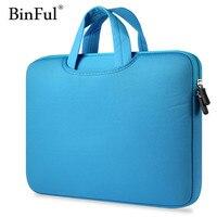 8 Color Neoprene Laptop Notebook Case Sleeve Bag Clutch Wallet Computer Pocket For Macbook Pro Air