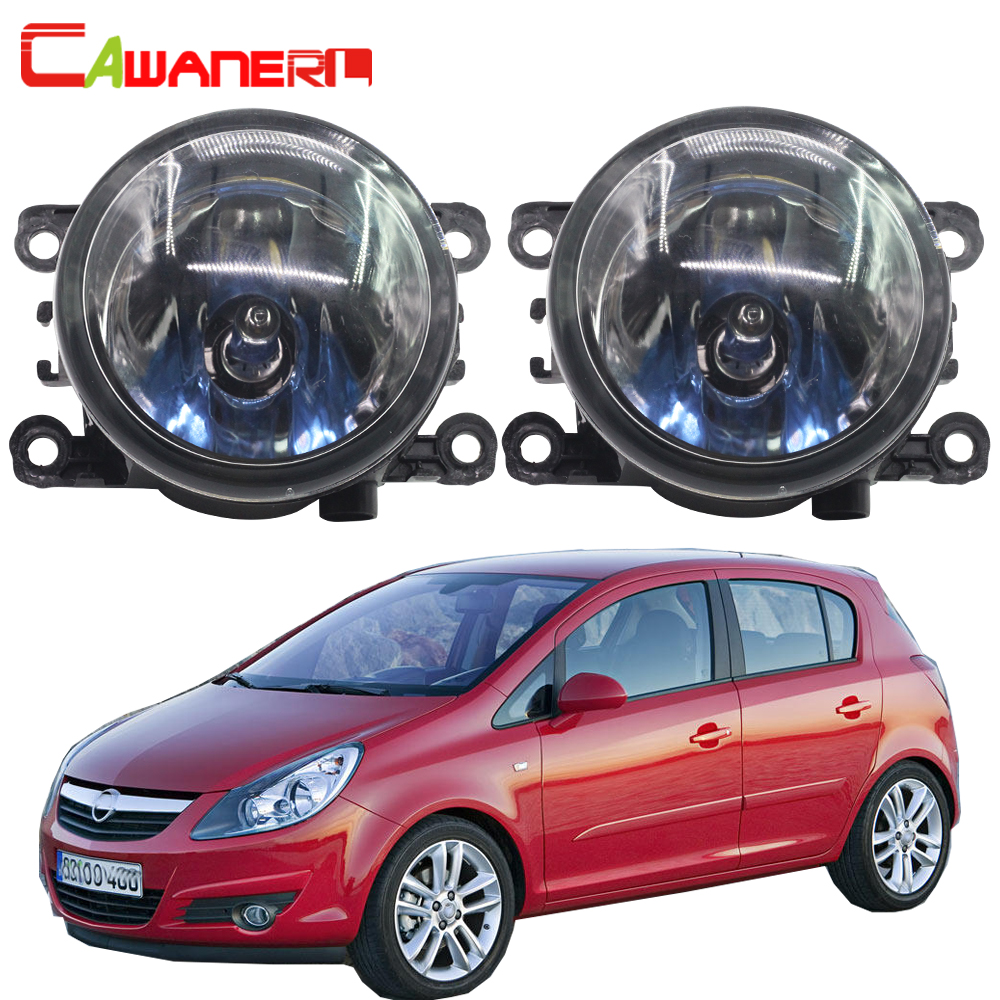 Cawanerl For Opel Corsa D Hatchback 2007-2015 100W H11 Car Light Halogen Bulb Fog Light Daytime Running Lamp DRL 12V Accessories 2pcs car styling right left fog light lamp w h11 halogen 12v 55w bulb assembly for nissan tiida hatchback c11x 2007 2011 2012