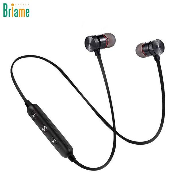 d501c6949ad Briame Metal Sports Wireless Headphone Bluetooth Earphone Sweat Proof  Earphone Magnetic Earpiece Stereo Headset for Mobile Phone