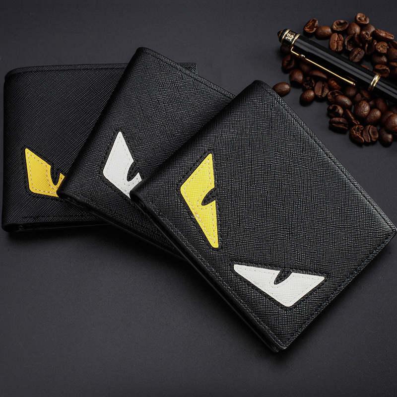 2019 New Fashion PU Leather Mens Pokemon Ball Cards Wallet Purse Creative Cartoon Pattern Card Holder Small Wallets For Men