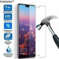 2 piezas Protector de pantalla de vidrio templado lámina para Huawei P30 Lite P20 Pro P10 P9 P8 Lite 2017 vidrio película de protección