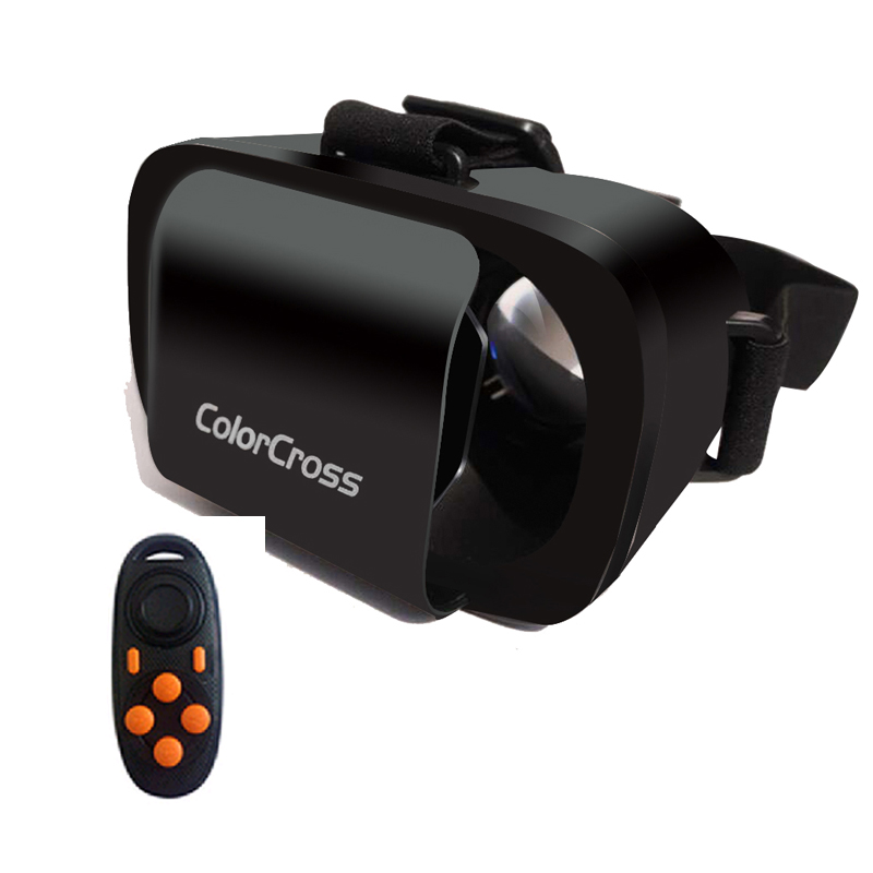 Bluetooth remote controller+ Colorcross III 3 Google VR 3D Glasses Virtual Reality Head Mount Google for 4.7'' ABOVE Smartphone