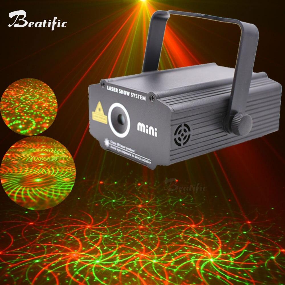 Mini équipement de musique de lumière de projecteur de Laser pour le système d'exposition de lumières de Machine de partie de barre de Disco