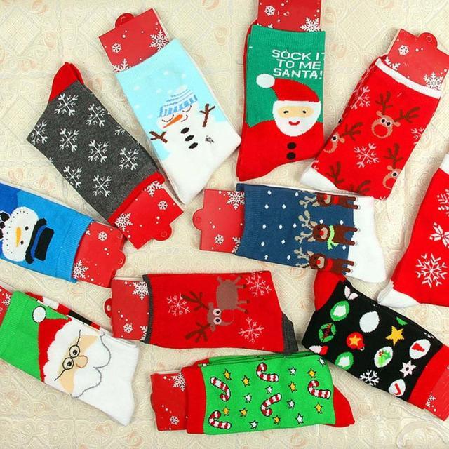 MUQGEW novedad calcetines de invierno de Carnaval para mujer celebración de Año regalo de Navidad cálido suave cómodo calcetín de algodón Soxs