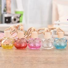 Car Air Freshener Perfume Cat Bottle Auto Empty Odor Hanging Glass Oil Essental Diffuser for Car Pendant Ornament