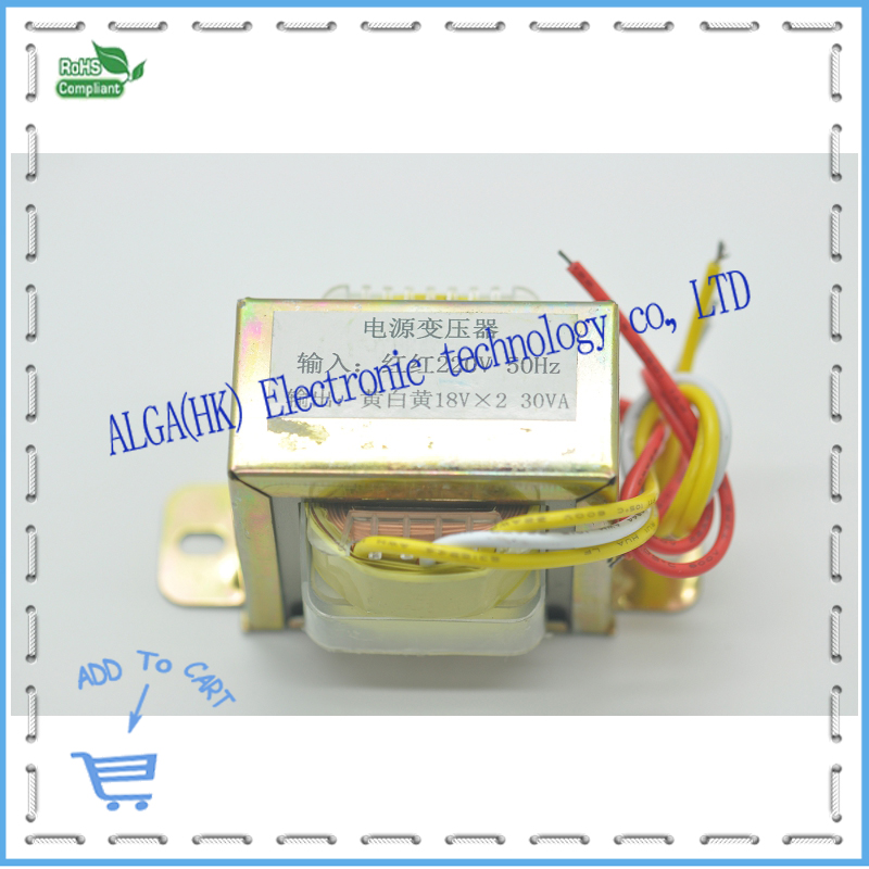 High quality to dual output transformer 18vX2 30w 18V-0-18V transformer. noratel toroidal seal tokon transformer double 30w 18v 30va