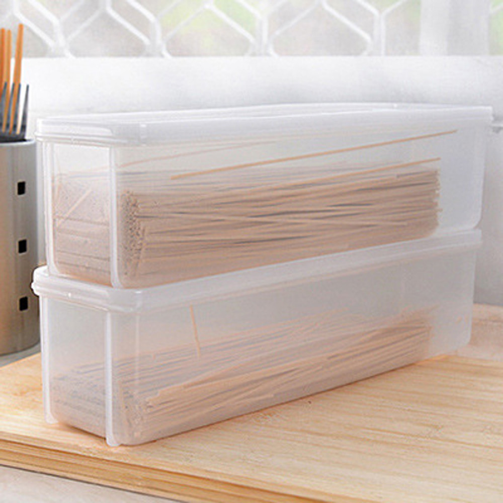 High-end Design Single Layer Refrigerator Food Airtight Noodles Storage Box Translucent Home Kitchen Egges Food Fruit Container