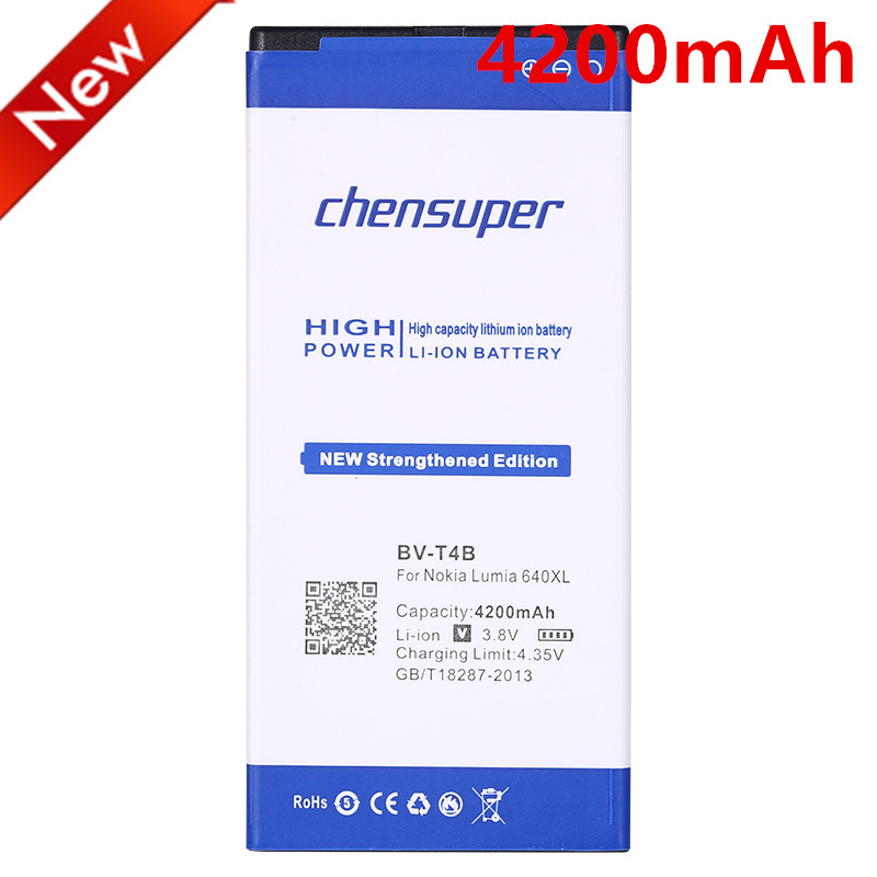 chensuper BV-T4B 4200mAh Battery for Nokia Microsoft Lumia 640XL RM-1096 RM-1062 RM-1063 RM-1064 RM-1066 Lumia 640 XL BVT4B(China)
