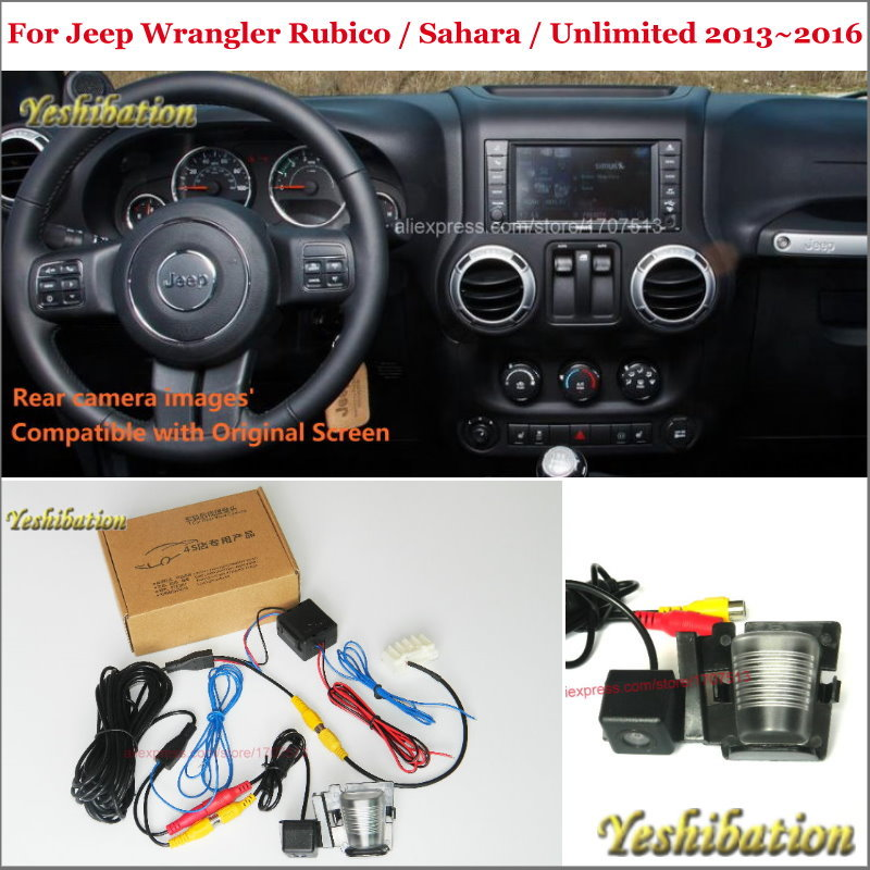 Car Rear View Back Up Reverse Camera Sets For Jeep Wrangler Rubico / Sahara / Unlimited - RCA & Original Screen Compatible