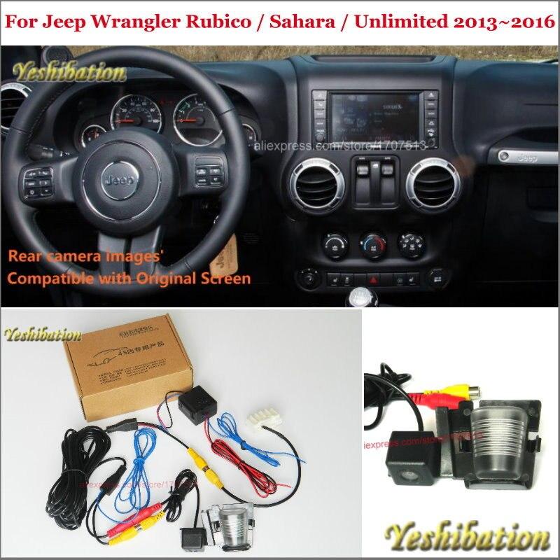 Car Rear View Back Up Reverse Camera Sets For Jeep Wrangler Rubico / Sahara / Unlimited - RCA & Original Screen Compatible