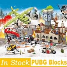 Winner Winner Chicken Dinner Action Figure Military Soldiers Weapon PUBG Game Building Blocks Toys for Children kids