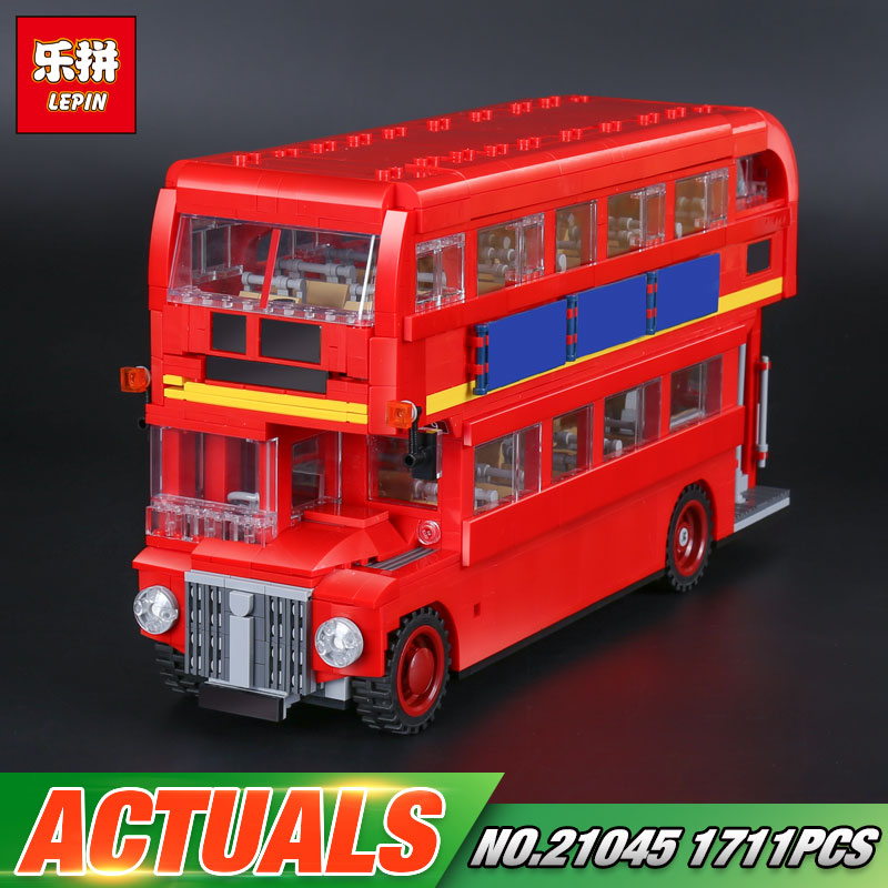 Lepin 21045 1716Pcs Genuine Technic Series The London Bus Set 10258 Building Blocks Bricks Children Educational Toys Model Gifts