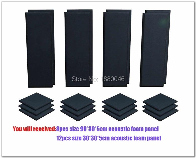 Doprava zdarma akustická pěna akustický panel London 10 Room Kit Scatter Blocks Akustické ošetření Pro Audio LA 20ks Černá barva