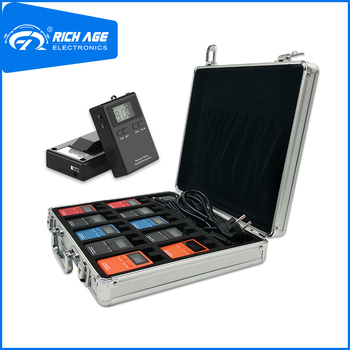 RichiTek Hajj Tour Guide System Potable 1 Transmitter+9 Receivers For Tour Guide With Condenser Microphone