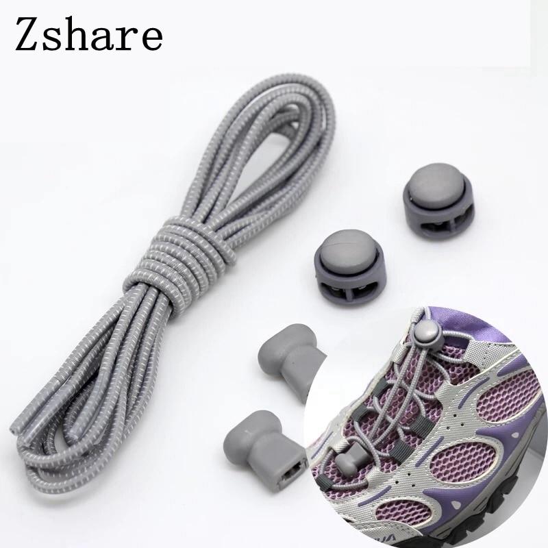 100CM Stretching Lock Lace 22 Colors 1pair Locking Shoe Laces Elastic Sneaker Shoelaces Shoestrings Running/Jogging/Triathlon T1